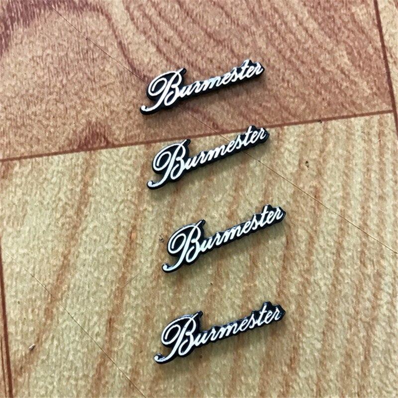 4Pcs  Car Styling Audio Speaker Stickers For Burmester For Mercedes Benz W205 W204 W212 203 W211 W124 W210 AMG Accessories