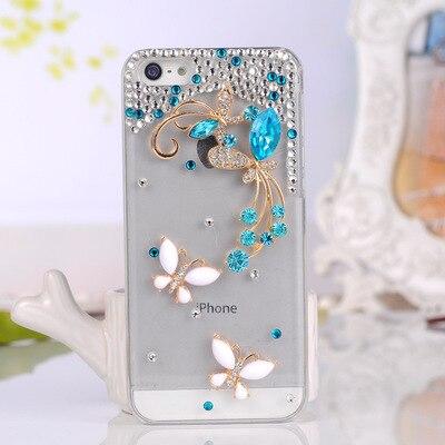 Para Xiaomi Redmi note 8 7 5 6 4X 4A 5A 6A Note8 7 4 5 6 Pro Note4X 5A Coque de lujo del diamante de Bling del Rhinestone de la caja del teléfono de la mariposa