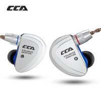 CCA C16 8BA Drive Units In Ear Earphone 8 Balanced Armature HIFI Monitoring Earphone Headset With Detachable Detach 2PIN Cable