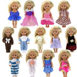 Aleatoriamente escolhido 5 conjunto bonito mini roupas estilo misto casual diário usar blusa vestidos saia roupas para kelly boneca acessórios