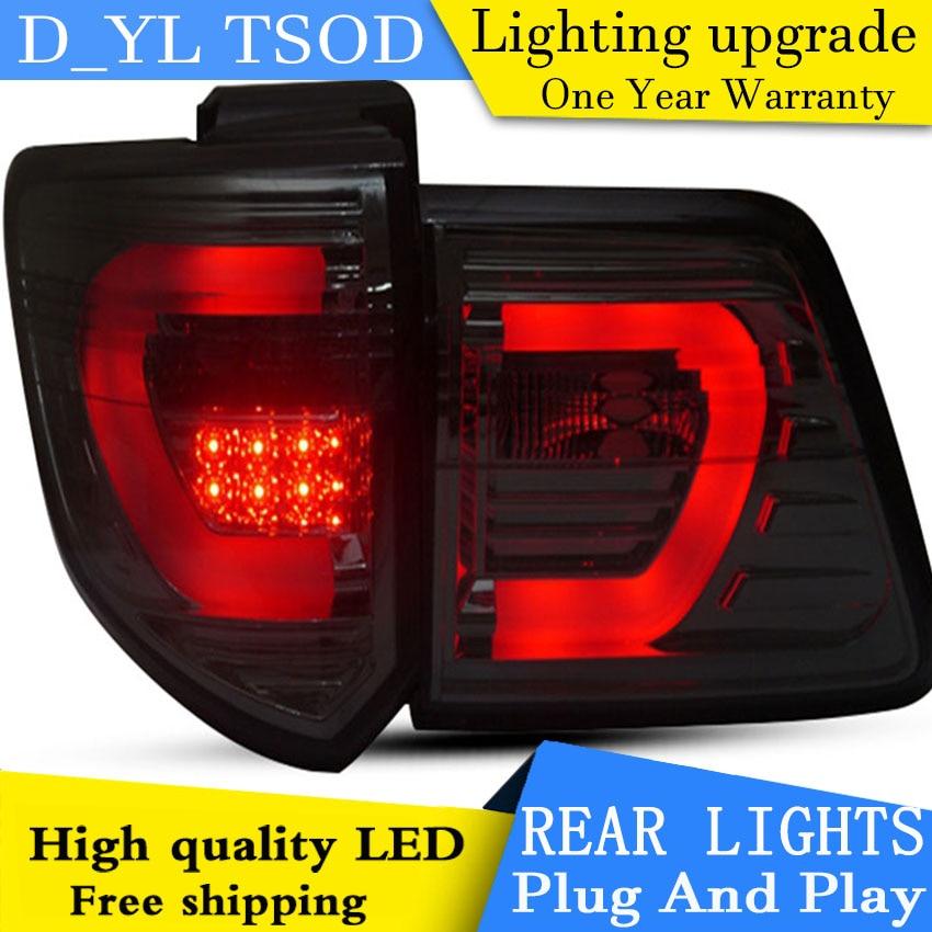 Lámpara trasera de estilo de coche para Toyota Fortuner, luz trasera LED 2011-2015, nueva lámpara LED trasera Altis, DRL + freno + Parque + lámpara de parada de señal