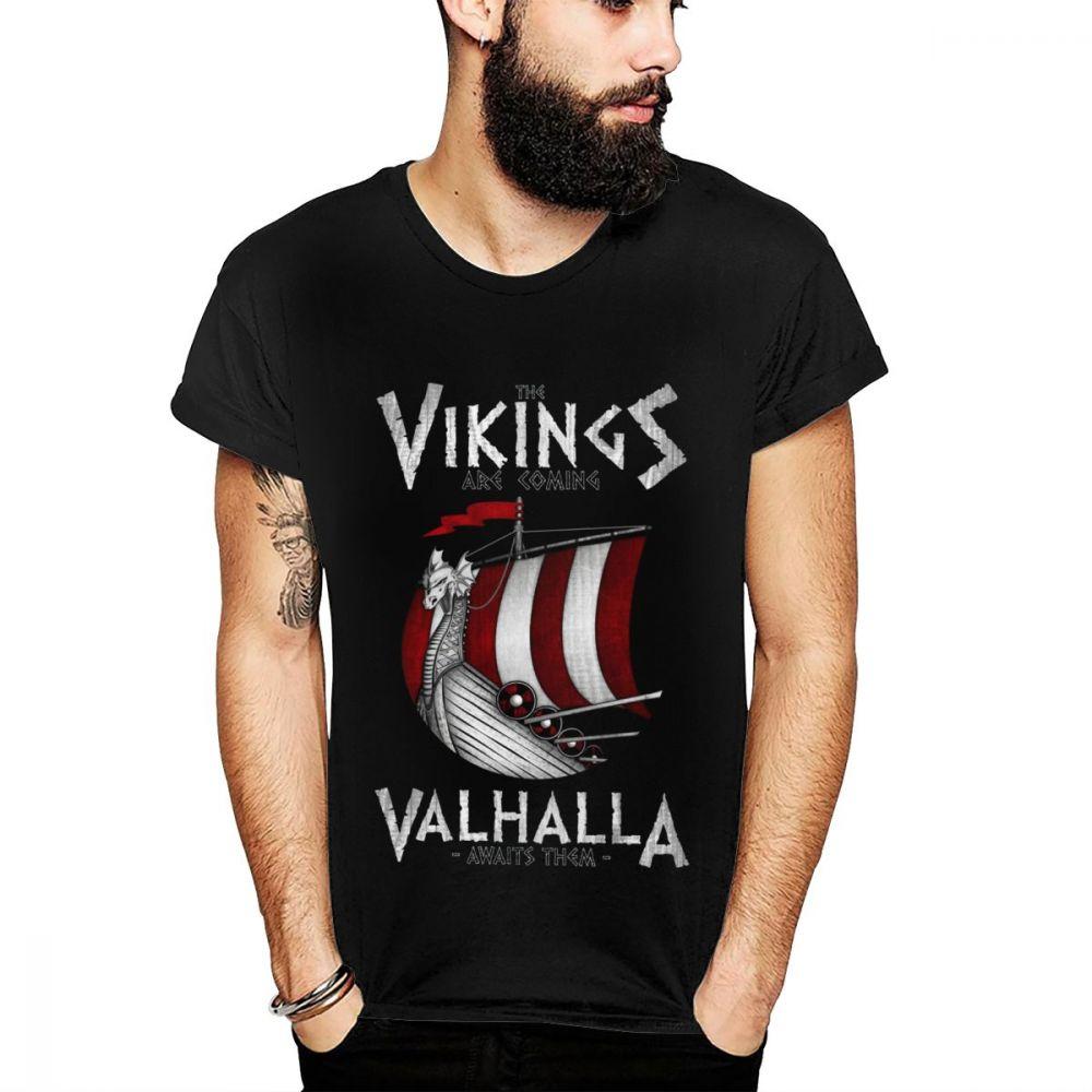 Hipster Vikings Are Coming Boat T Shirt Man Fashion Crewneck T-Shirt 3D Print Top design New Arrival Tees