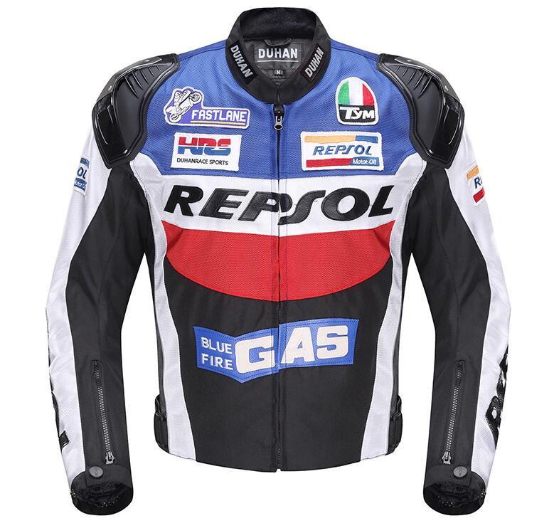Jaquetas de Corrida de Moto moto GP REPSOL DUHAN motocicleta Equitação Jaqueta de Couro Top Qualidade OXFORD Camisa
