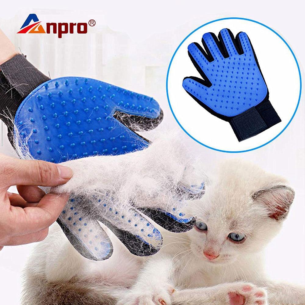 Guante para mascotas, guante para el aseo de gatos, guante para el pelo de gato, guantes para Cepillar el pelo, peine para perros para gatos, cepillo limpiador para masaje y removedor de pelo