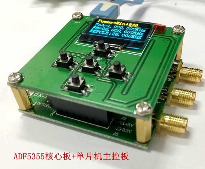(Основная плата + официальная плата управления веб-сайтом + MCU контроль) официальный веб-сайт ADF5355, конфигурация ПК PLL, источник RF 54, MHz-136