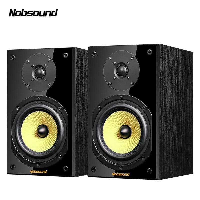 Nobsound NS-2000 two-way madeira 100 w 1 par 6.5 polegadas estante alto-falantes 2.0 coluna de alta fidelidade som casa profissional alto-falante