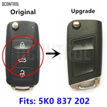 QCONTROL Yükseltme Uzaktan Anahtar 5K0837202 Fit VW/VOLKSWAGEN Beetle/Caddy/Eos/Golf/Jetta/ polo/Scirocco/Tiguan/Touran/Up 2009-2014