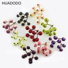 Искусственные ягодные цветы HUADODO, 20 шт., форменные искусственные фруктовые скрапбукинги, сделай сам, для свадебной вечеринки, Рождественского украшения (1 шт. = 9 головок)