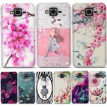 Telefon Fall Für Samsung Galaxy J7 2015 Fall Silikon Weiche TPU 3D Malen Blume Zurück Abdeckung Für Samsung Galaxy J7 j700f J700h Abdeckung