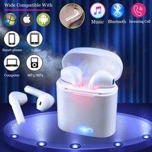 I7s TWS Mini Wireless Bluetooth Kopfhörer Stereo Ohrhörer Headset Mit Lade Box Mic Für iPhone 7 Alle Smart Telefon Mit USB Kabel