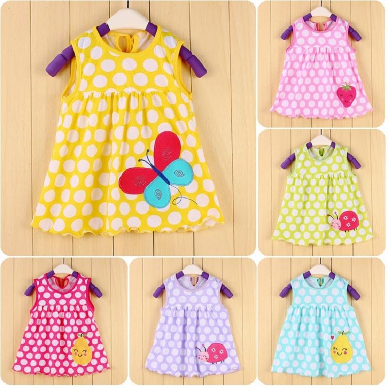2018 Summer Baby Clothing Girls Dress Bebe vestidos Newborn baby girl clothes dresses frock designs Jumpers Tank Top