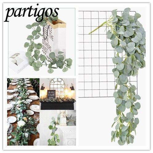 2m Künstliche Grün Eukalyptus Vines DIY Hochzeit Dekoration Rattan künstliche Gefälschte Pflanzen Party Wand Decor Vertikale Garten