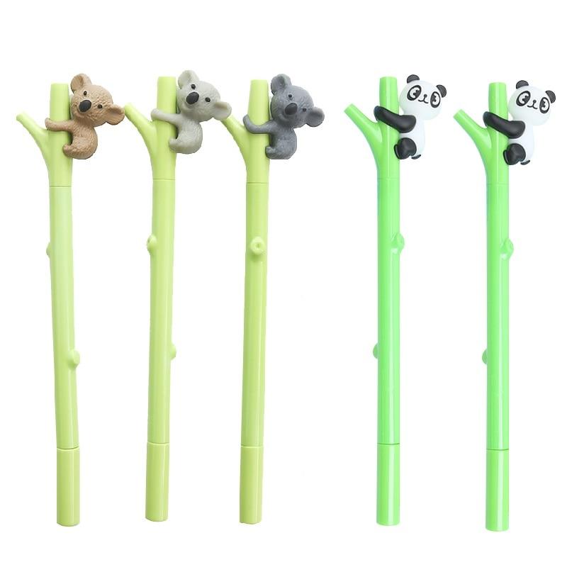 5 pcs Climbing tree gel pen Cute Panda Koala 0.5mm ballpoint Black color ink pens Stationery Office School supplies Canetas F796