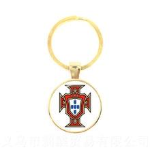 Japon, Portugal, nigéria, mexique, maroc équipe nationale de Football LOGO Football verre dôme pendentif porte-clés Souvenir cadeau