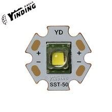Luminus SST-50 15W high-power LED Emitter Neutral/Kalt weiß taschenlampe lichtquelle LED Chip diode birne mit 20mm kupfer PCB
