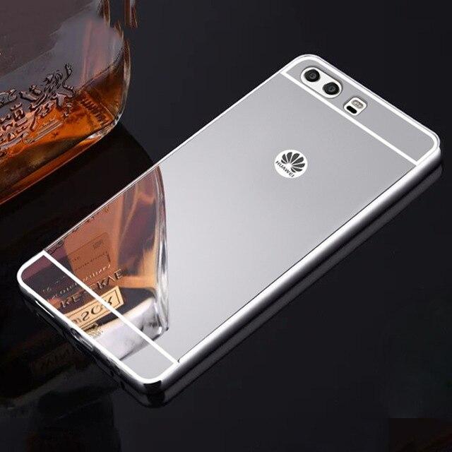 Célula blanda caja del teléfono para huawei P8 P9 P10 P20 Pro Lite Plus Honor 8 9 10 jugar Lite Mate 8 9 10 Lite 2017 espejo funda ultra delgada
