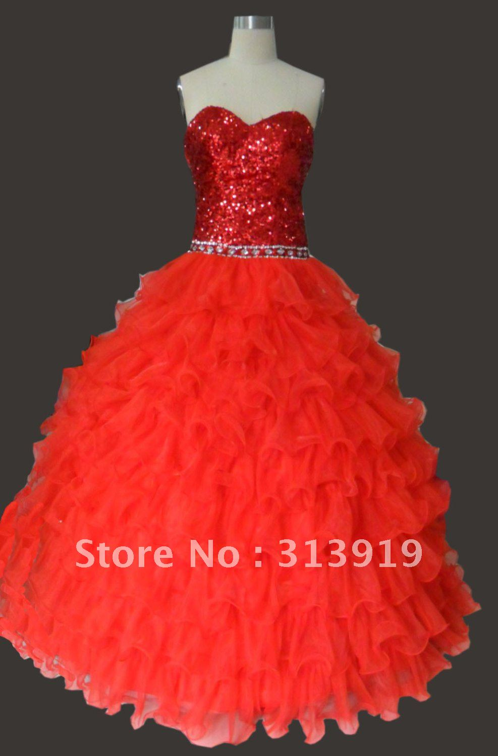 free shipping  fashion  2017  puffy ball gown prom dress real pictures