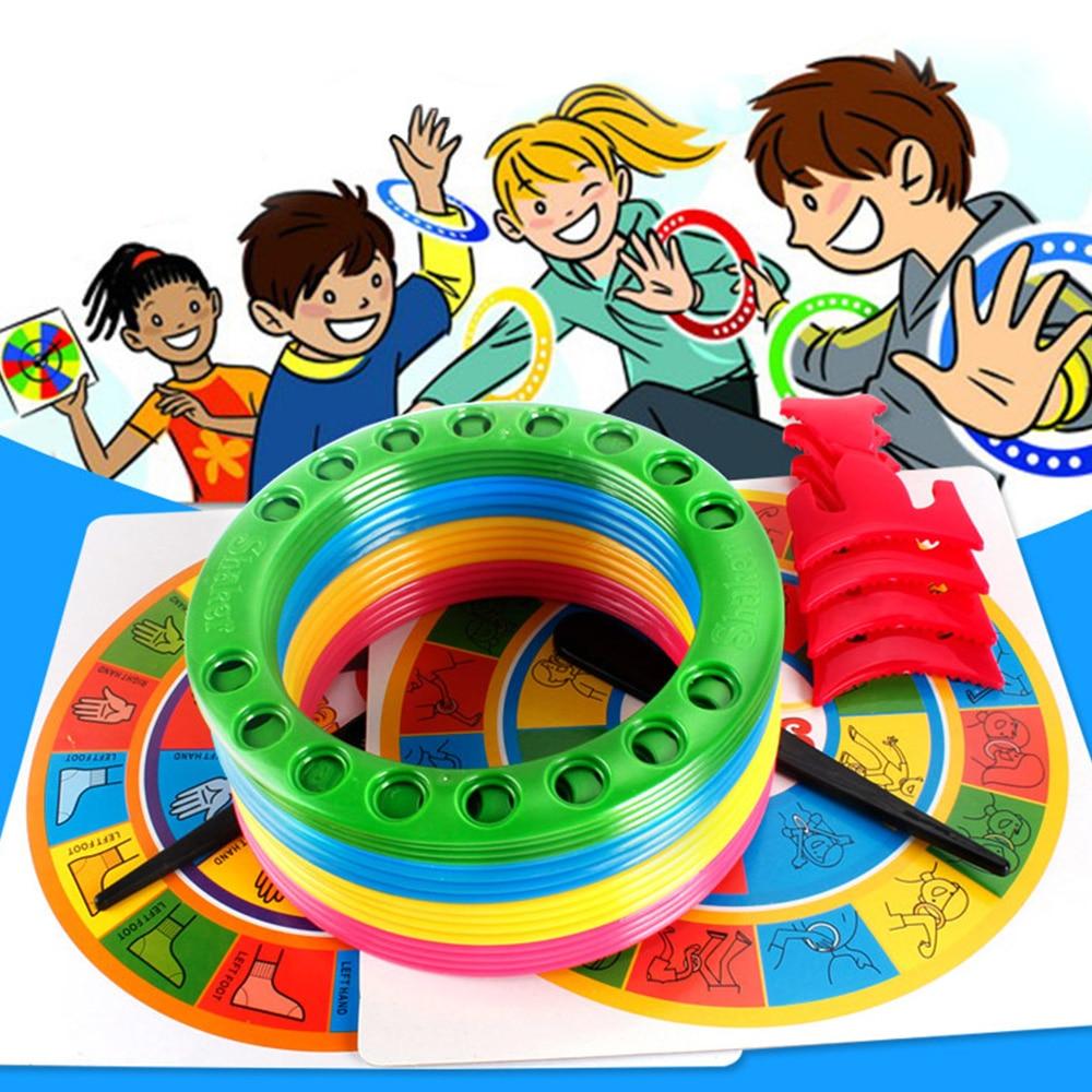Shaker (versión en inglés) juego 5-en-1 Twister, juego de fiesta interactiva para niños