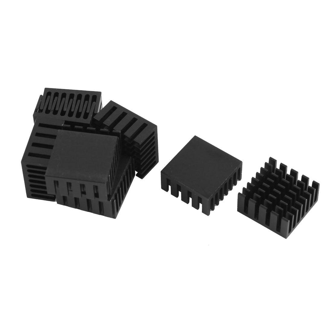 10 Pcs Black Aluminum Cooler Radiator Heat Sink Heatsink 20mm x 20mm x 10mm