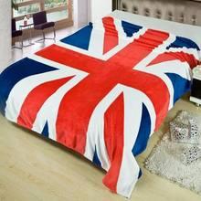 Couverture chaude pour lhiver   Tissu drapeau britannique et américain, couvertures polaires sur lit, canapé et lit de voyage, 150*200 CM