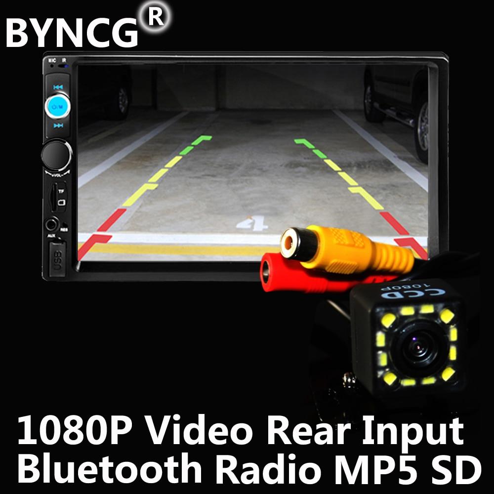 2Din BYNCG Car MP3 Player Autoradio Universal  Touch Screen Panel Car Radio Audio Video 7010B Support FM/MP5/USB/AUX/Bluetooth