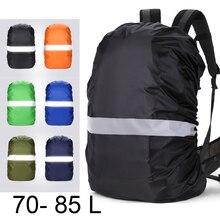 Housse de pluie sac à dos réfléchissant 70L 75L 80L 85L sac étanche camouflage tactique Camping en plein air randonnée escalade poussière imperméable
