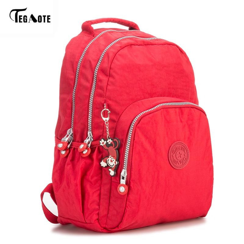 Нейлоновый мини-рюкзак TEGAOTE, Классический Повседневный Рюкзак для студентов, женский модный рюкзак для подростков