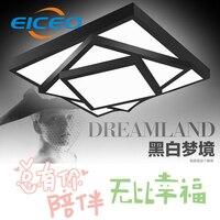 (EICEO) LED Ceiling Lamp Living Room Lamp Creative Bedroom Square Ceiling Light Modern Bedroom Lighting AC185-265V free shipping