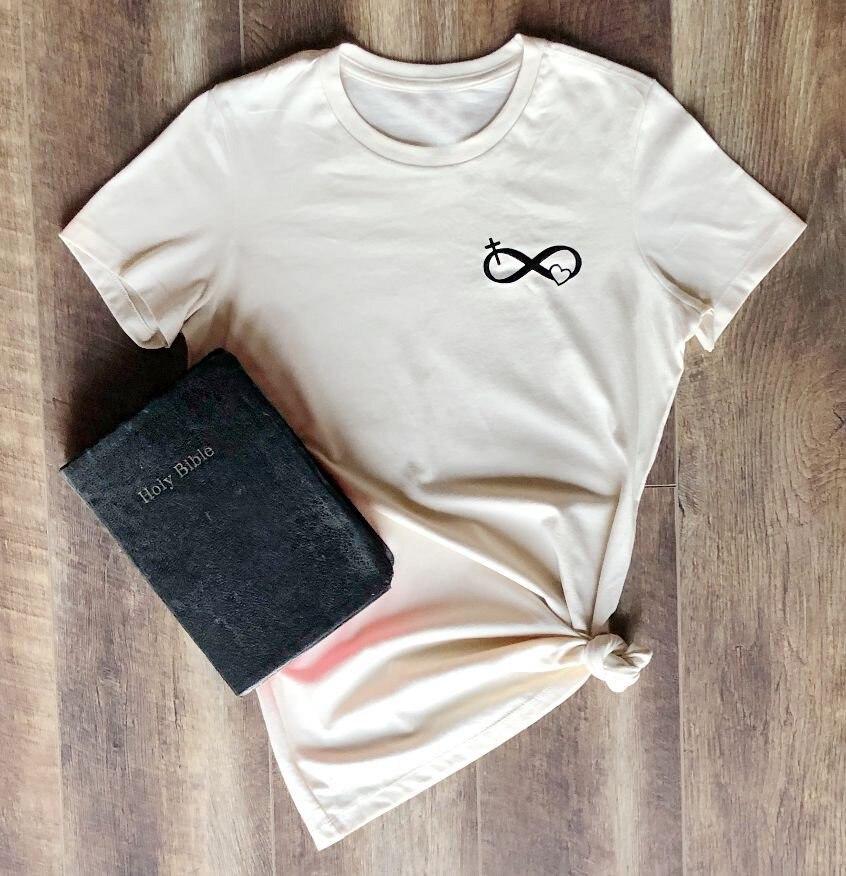 Damskie wiary chrześcijańskiej T-Shirt z Logo religii chrześcijańskiej moda Unisex graficzne Tumblr estetyczne Tee jezus koszulki