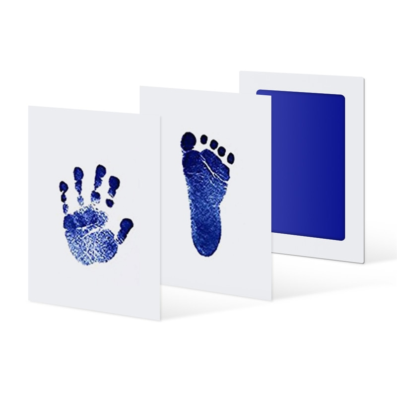 6Colors Baby Care Non-Toxic Handprint Kit Imprint Footprint Imprint Baby Souvenirs Newborn Baby Cush