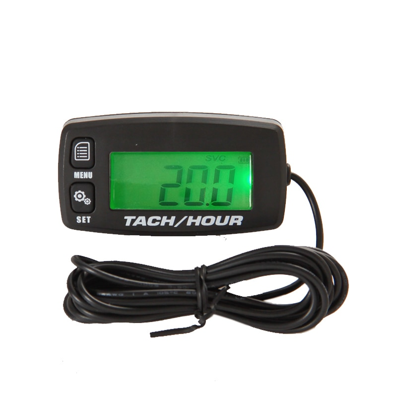 Tach hour meter Motorcycle Meter Digital Tachometer Engine Resettable Maintenace Alert RPM Counter for Chainsaws Boats ATV durable dt2234c digital laser counter meter non contact tachometer rev rpm counter for testing engine rotation speed gauge tools