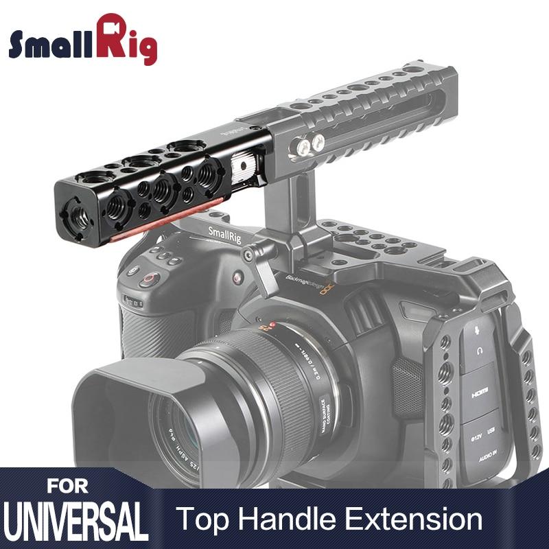 SmallRig DSLR Kamera Käfig Griff Grip Top Griff Gerade Verlängerung Mit 1/4 Gewinde Löcher Und Arri Ortung Löcher HTR2297