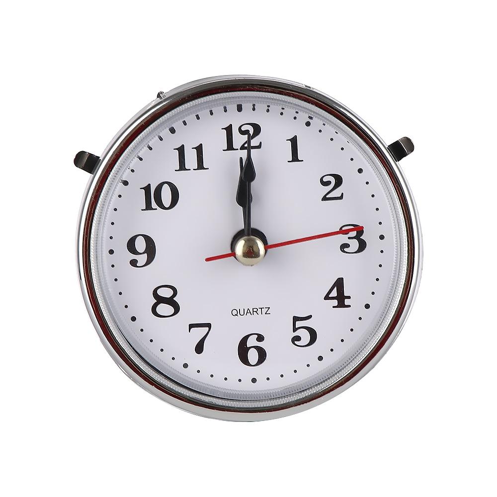 "Hot Sale New Classical 2-1/2"" (65mm) Clock Quartz Movement Insert Roman Numeral White Face silver Trim DIY Clock Accessories"