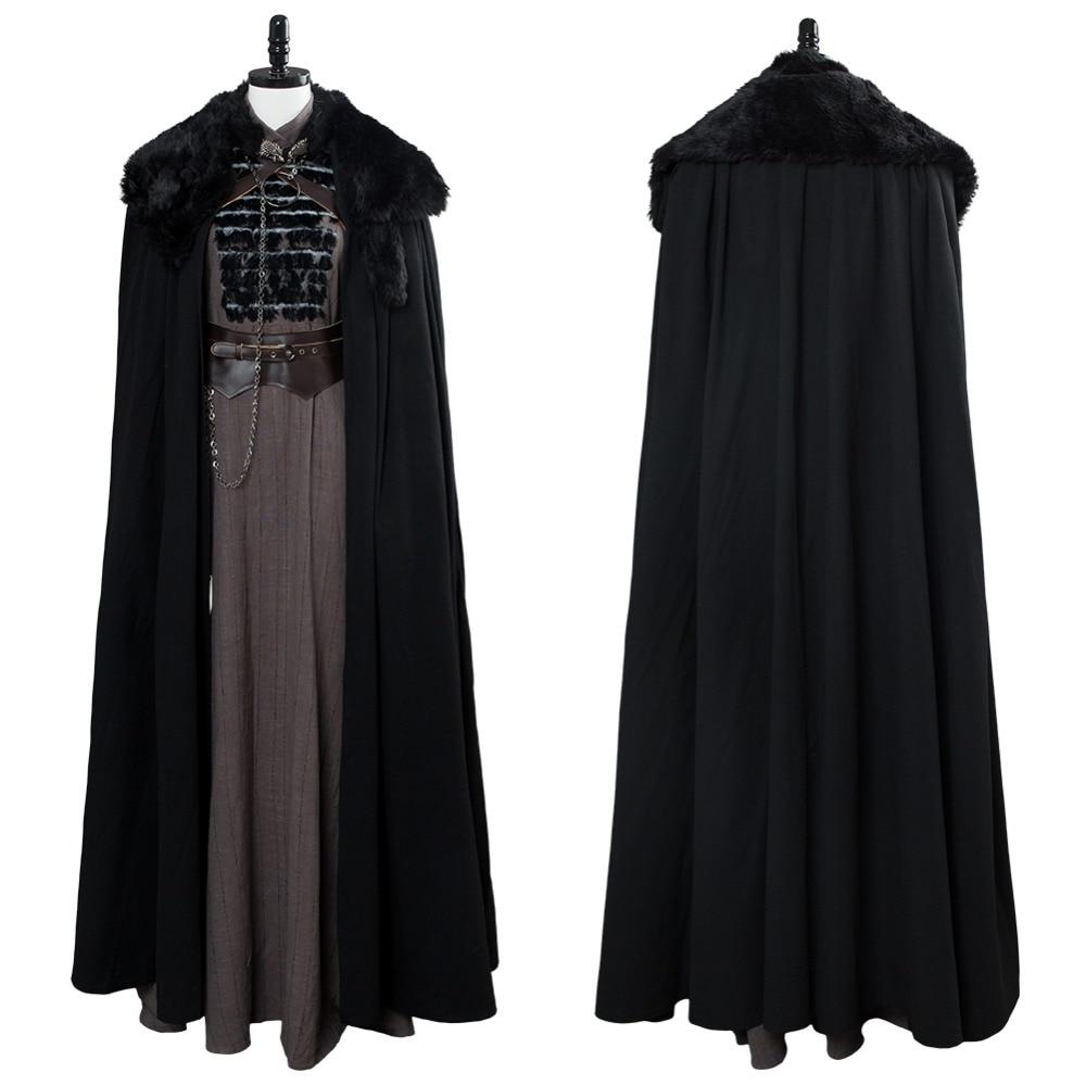 Juego de tronos temporada 8 Cosplay Sansa Stark disfraz traje completo Halloween carnaval Cosplay disfraz