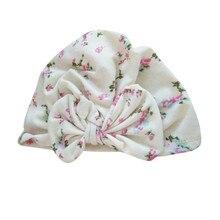 الموضة الأوروبية والأمريكية الطفل منتجات للأطفال آذان أرنب طفل معقود القبعات قبعة الموضة المطبوعة قبعة أطفال الهندي