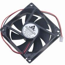 10 pièces Gdstime 8 cm 12 V 80mm x 80mm x 25mm double boule DC coque dordinateur ventilateur de refroidissement 80mm x 25mm 8025 2Pin 0.2A