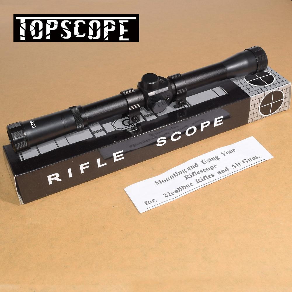 2PCS 4x20 Hunting Riflescopes Sight Tactical Optics Airsoft Air Guns Scopes Sniper Reticle Pistol Reflex Sight Holographic Sight