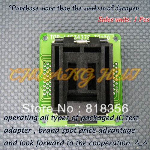 TOP-64F3437S-TQ100 Programmer Adapter TQFP100/QFP100 IC Test Socket