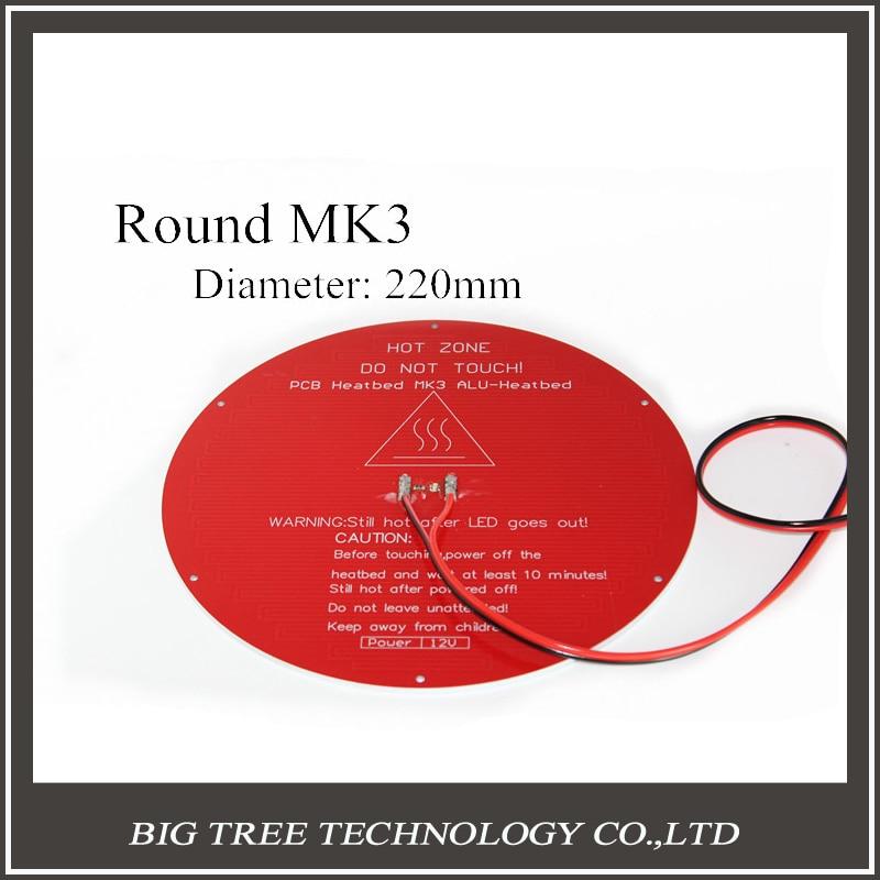 Delta rostock MK3 heat bed the latest Aluminum heat bed dual power 3D printer accessories RepRap MK3 heatbed heating bed hot bed