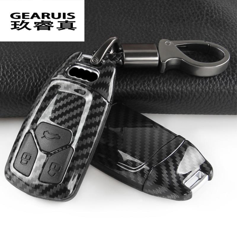 Автомобильный Стайлинг брелок Защитная крышка наклейка для Audi A4 B9 A5 S5 Q7 TT защитная оболочка чехол интерьер авто аксессуары