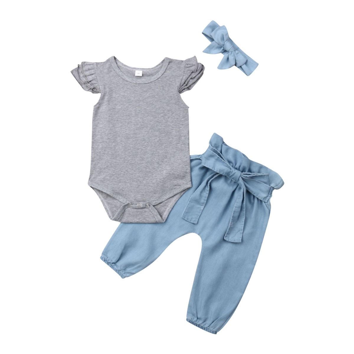 Детский летний комбинезон для новорожденных девочек 0 24 месяцев Комплекты