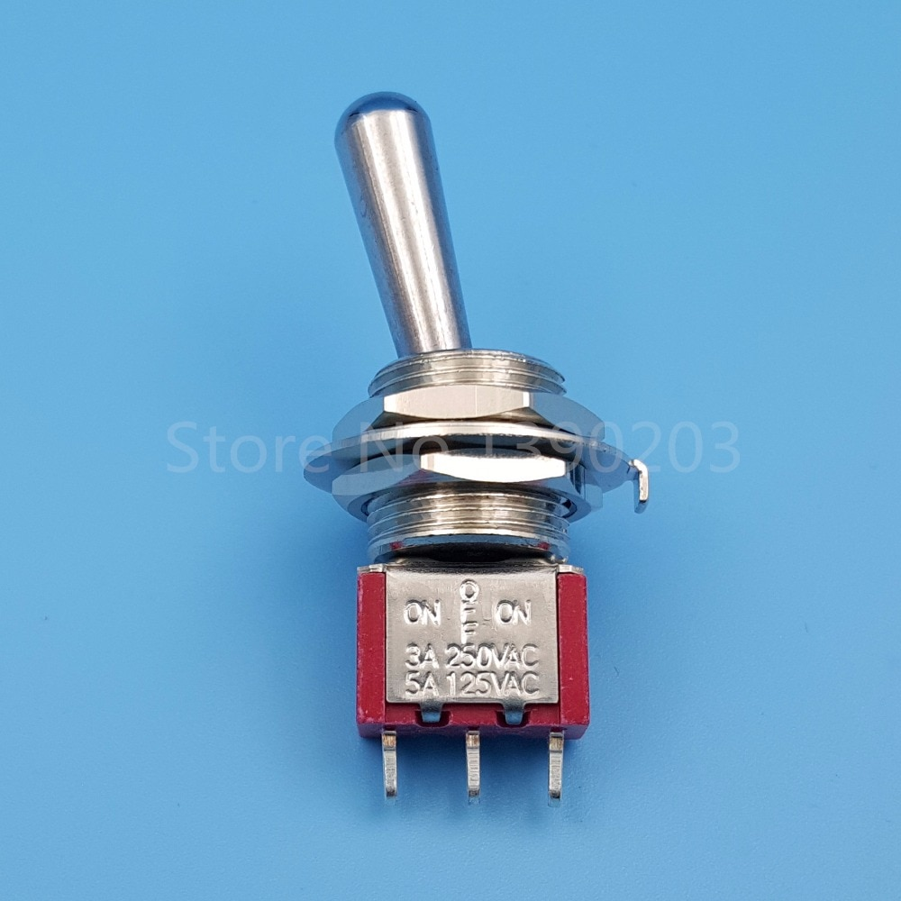 SH T8014-Z1 12mm 3 pines 3 posición ON-OFF-ON miniinterruptor de SPDT con mango largo