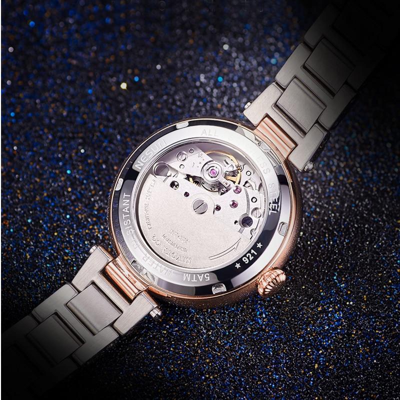Woman Watches Nesun Japan Miyota Movement Watch Women Luxury Brand Automatic Mechanical Bracelet Watch Ladies Wristwatch N9215-1 enlarge