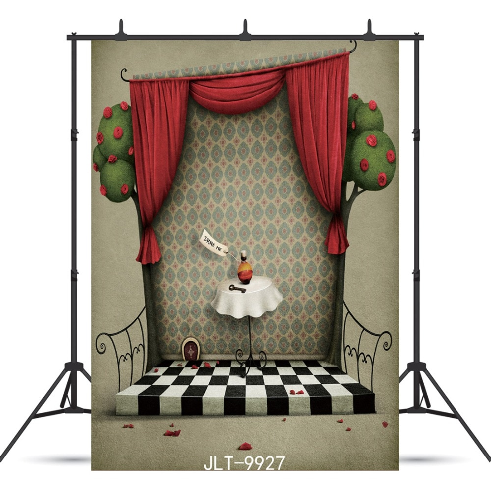 Stage Curtain Pattern Floor Photographic Backdrop For Wedding Party Child Baby Shower Vinyl Background Photocall Photo Studio