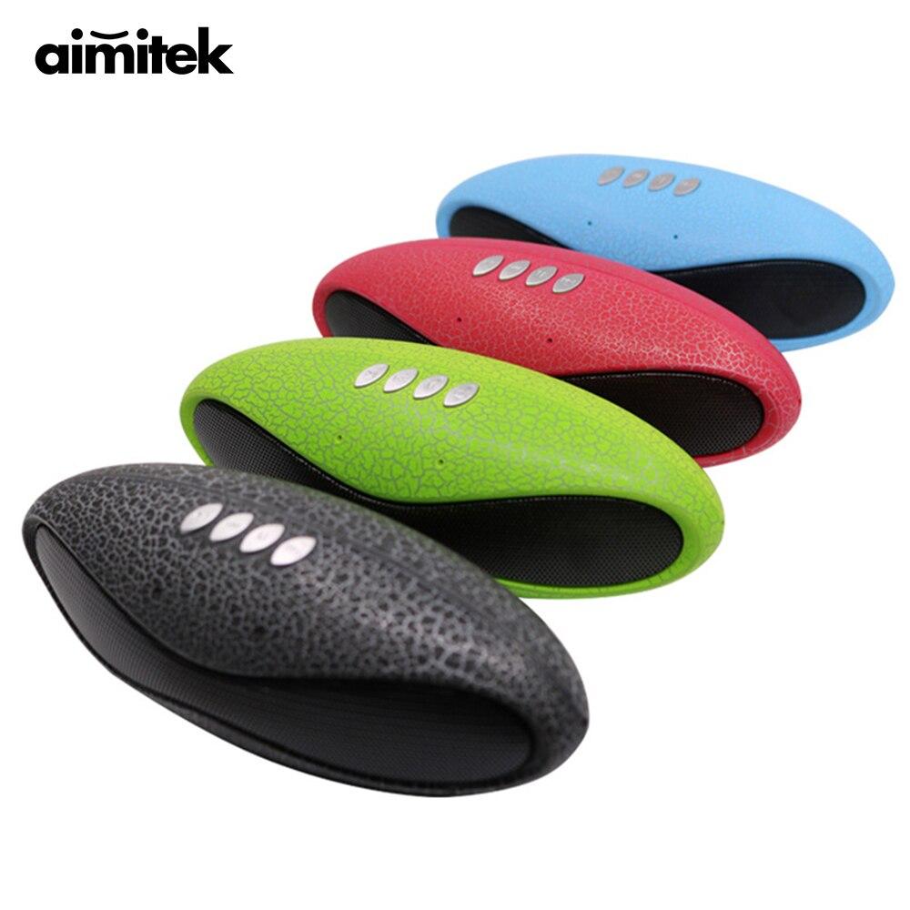Aimitek Mini parlante Bluetooth de fútbol portátil inalámbrico multifunción Subwoofer Supergraves con micrófono FM Radio TF tarjeta USB ranura