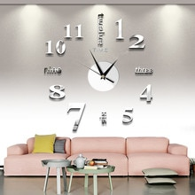 2020 Free Shipping New Watch Clock Wall Clock Watch 3D Diy Acrylic Mirror Sticker Home Decor Living Room Quartz Needle