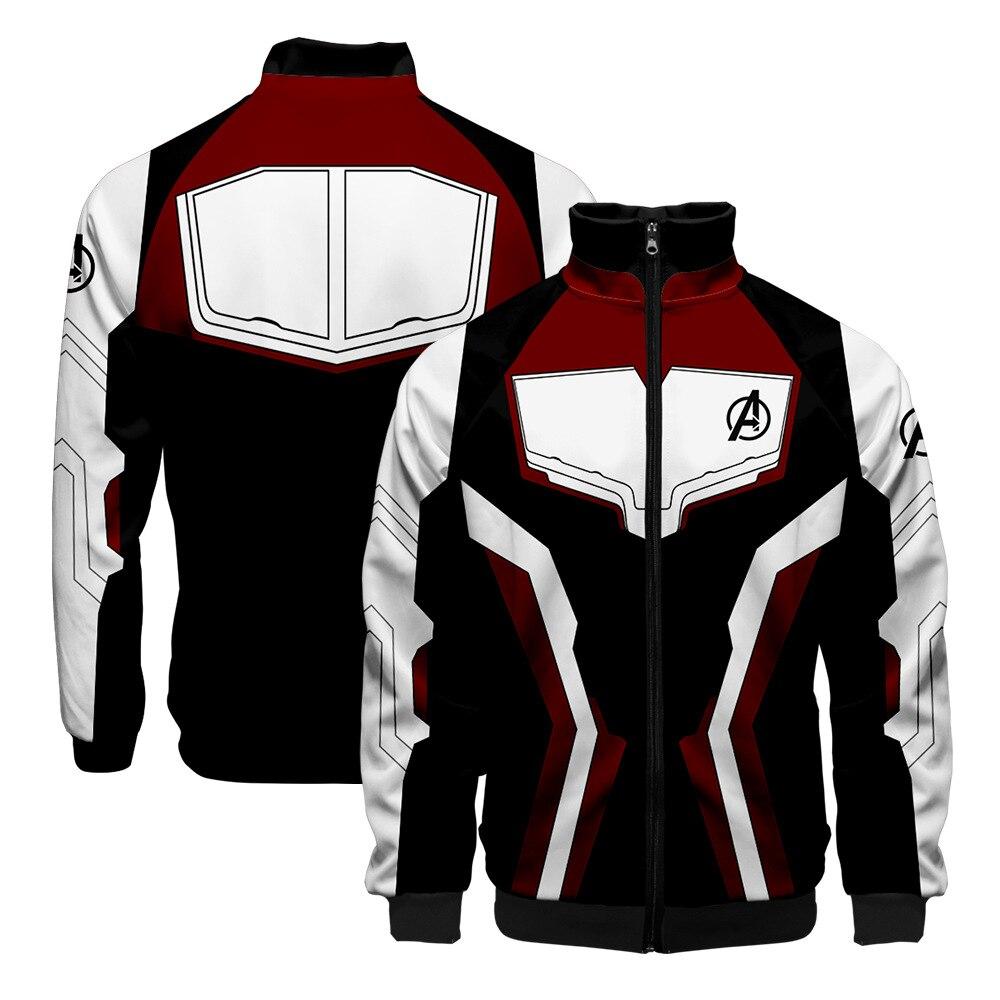 Endgame Quantum Realm jersey con capucha disfraz Cosplay hombres cuello pico Endgame cremallera sudadera chaqueta