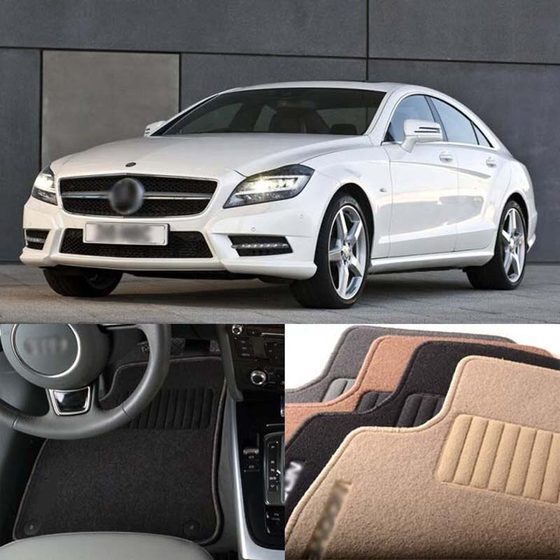 Alfombrillas de nailon antideslizantes Premium para Mercedes BENZ CLS 2006-2020 de 4 Uds.