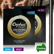 Orphee SC-55/57  Classic Guitar Strings Imported nylon Imported silver jacketed wire (028-045) inch