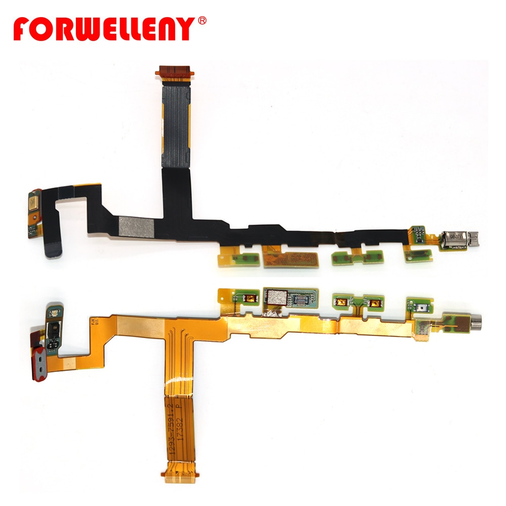 For Sony Xperia Z5 Mini Compact E5803 E5823 Power On Off Volume Vibrator motor Proximity Light Sensor micphone Flex Cable